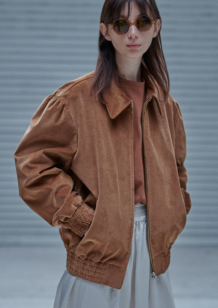 (SALE30%)via jack corduroy blouson_brown