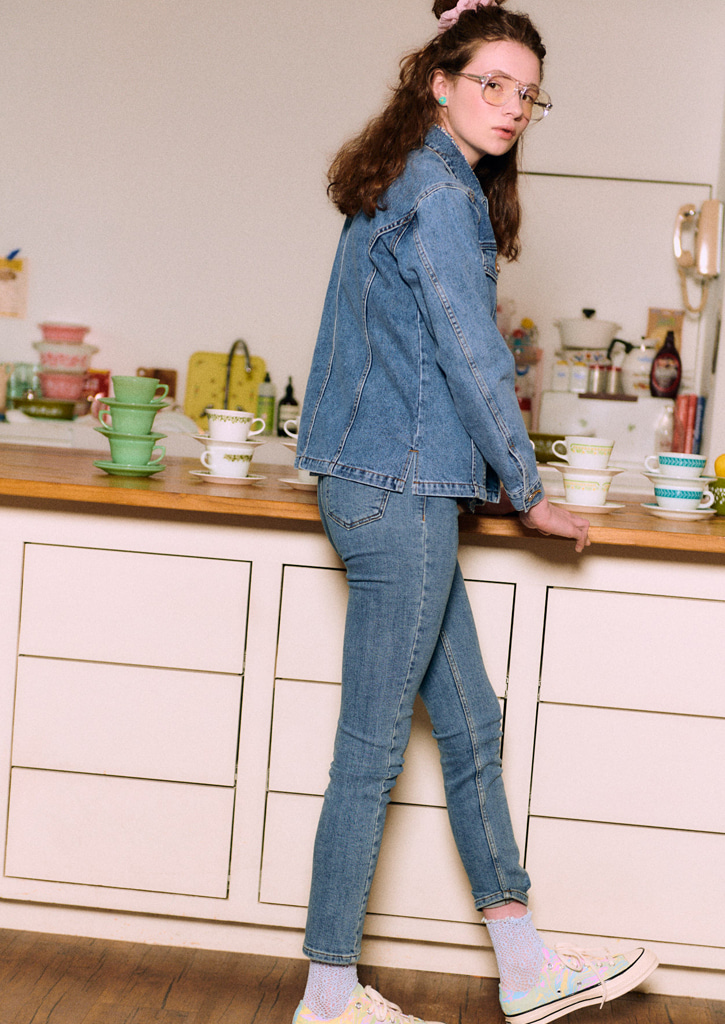 Via High-waist skinny Jeans_Blue