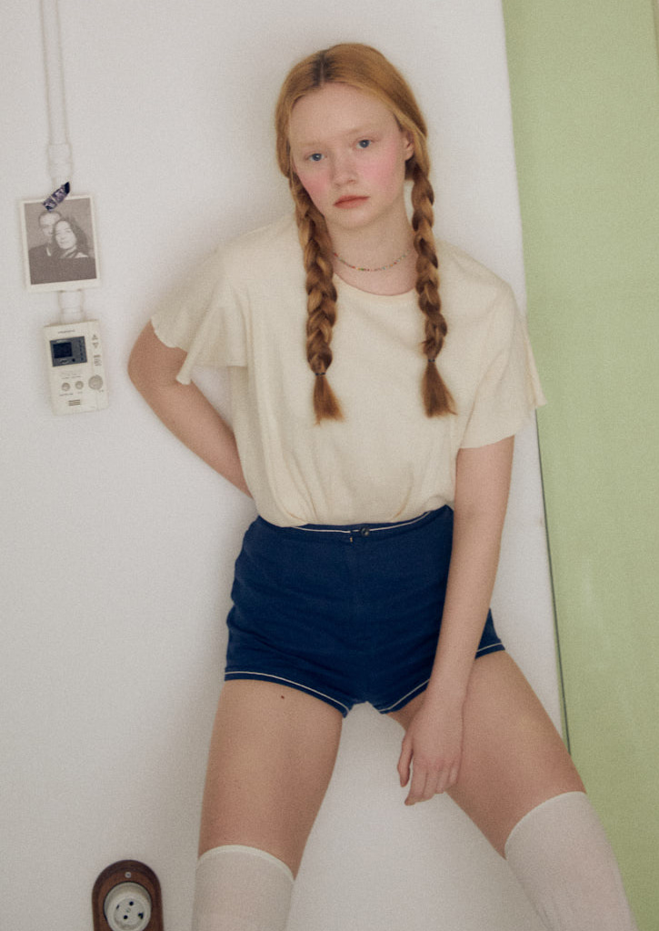 Via Bono cotton shorts_navy