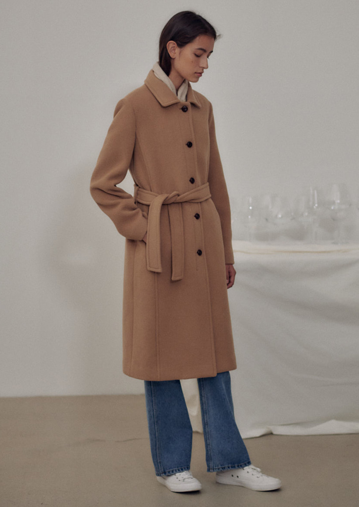 (SALE 30%)Via Jennifer single coat_camel