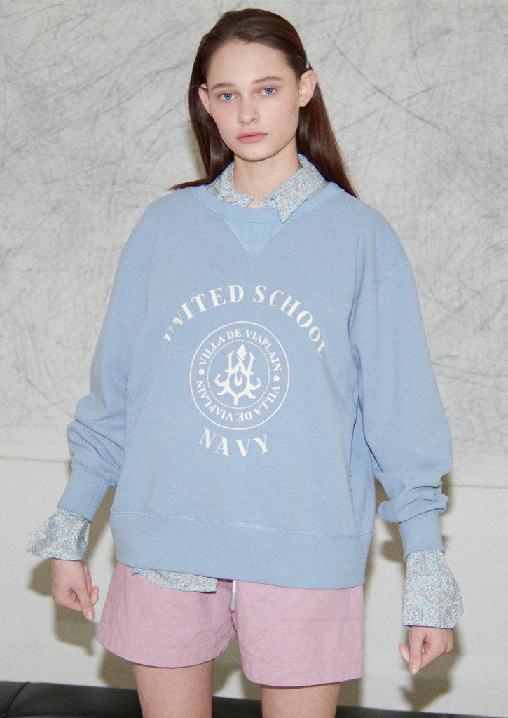 Via United school sweatshirt_skyblue