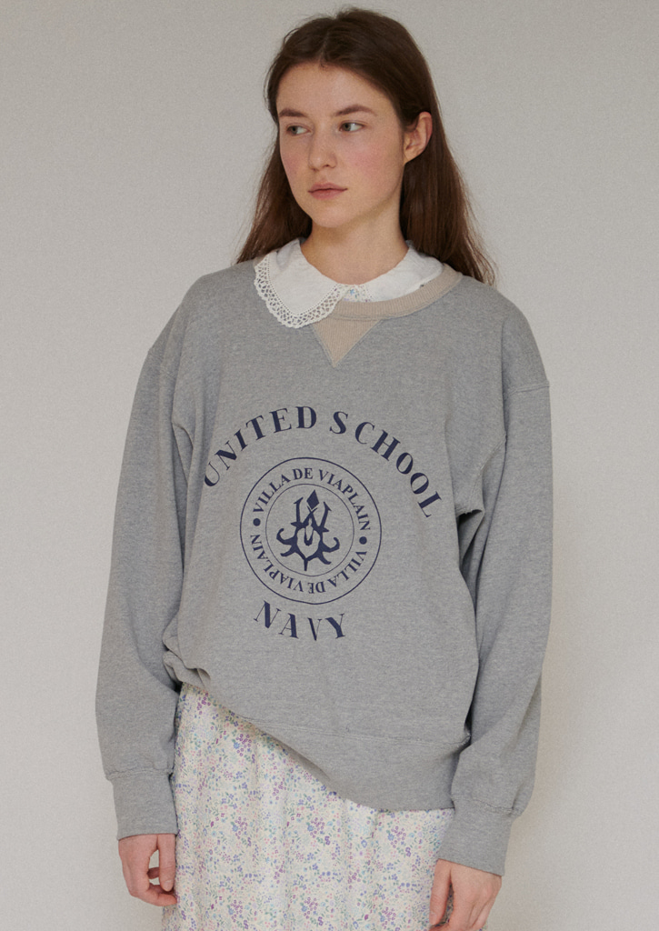 Via United school sweatshirt_gray