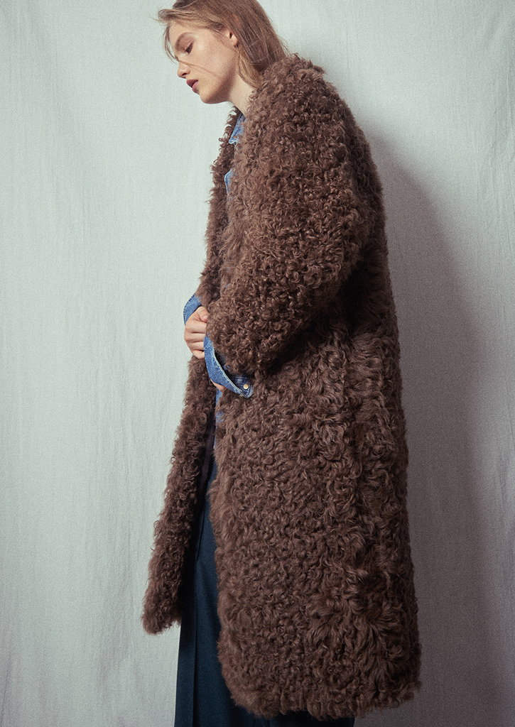 (SALE 30%)via Kalgan Lamb Fur Coat