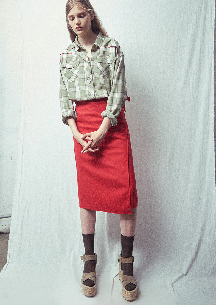 (SALE 30%)via Wool wrap skirt