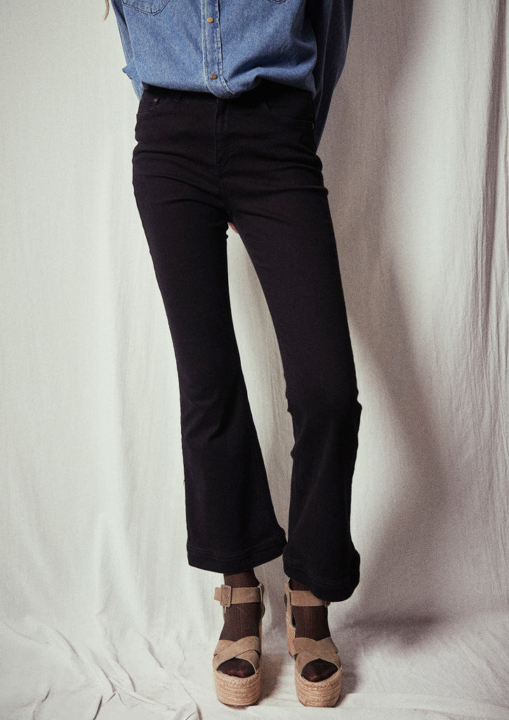 (SALE 30%)via Flare Highwaist denim pants