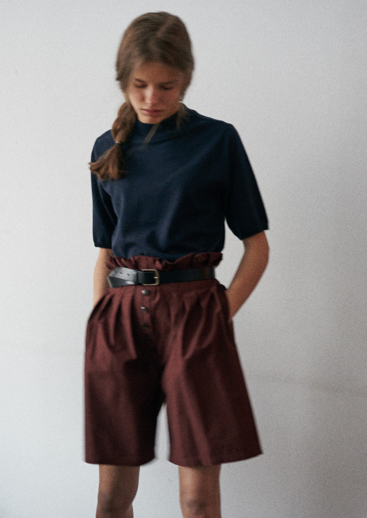 (SALE 30%)via RUE HIGH-WAIST HALF PANTS