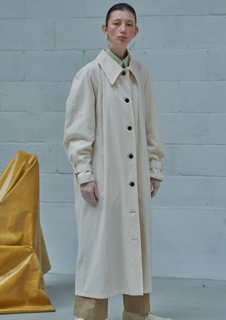 (SALE20%)via Monica long trench coat_ivory