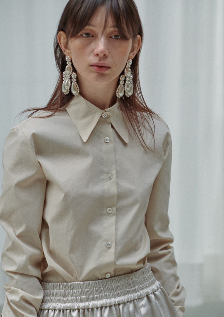 (SALE30%)via Bess basic shirt_ivory