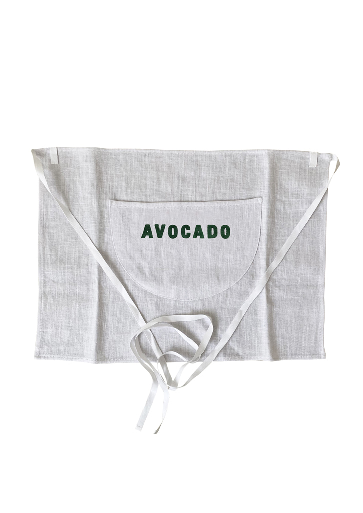 [vegetable flower studio] Apron_avocado