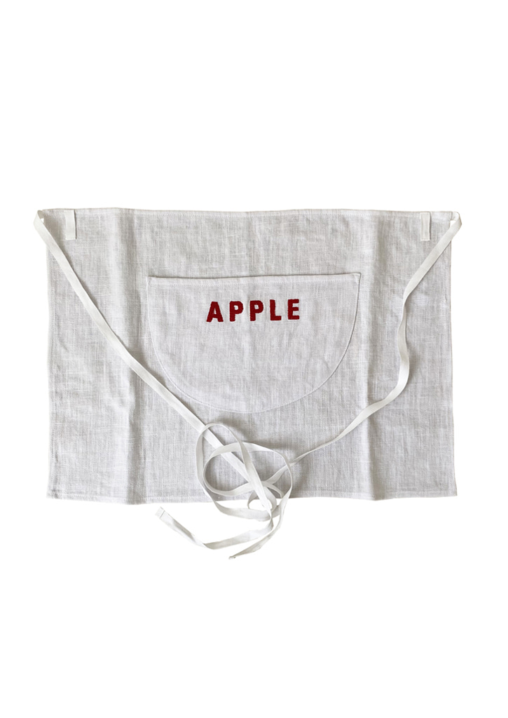 [vegetable flower studio] Apron_apple
