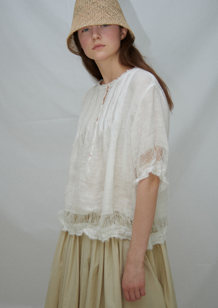 [3/9 순차발송]Via Georgette lace blouse