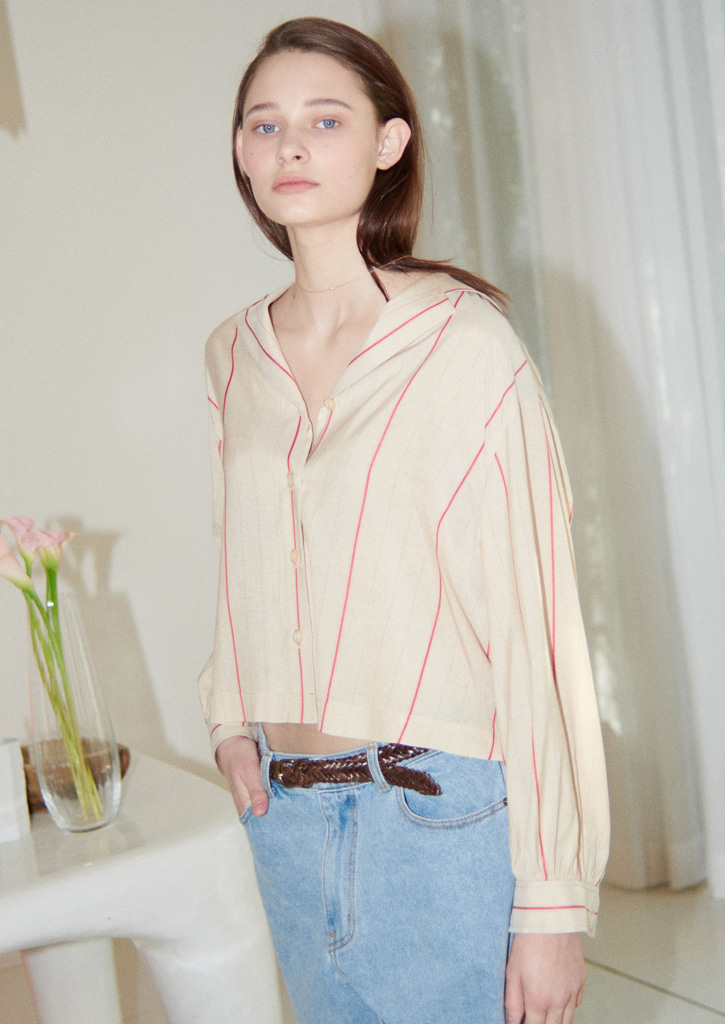 Via Redstripe blouse